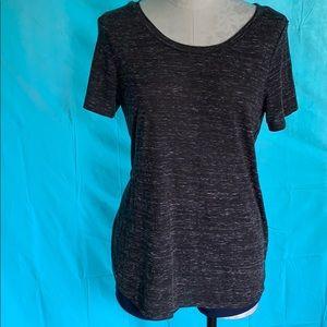 Black short sleeve top.
